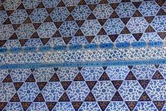 从Topkapi的东方无背长椅陶瓷砖视图 库存图片