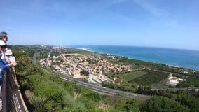 从Torre di帕尔姆,费尔莫县,马尔什地区,意大利的沿海看法 股票视频