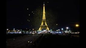 从Trocadero的埃佛尔铁塔 股票录像