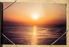 从vication的照片与日落 库存图片