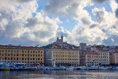 从Vieux口岸马赛的看法 免版税图库摄影