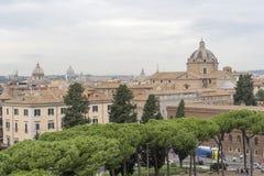 从Vittoriano的看法到圣玛丽亚二洛雷托省 库存照片