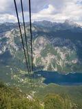 从Vogel的湖Bohinj 免版税库存照片