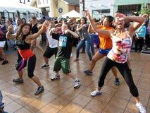 仑巴舞舞蹈 免版税库存照片