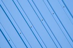 仓库的蓝色门面 免版税库存图片