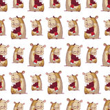 仓鼠无缝的纹理。 免版税图库摄影