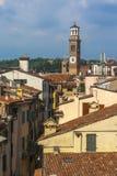 他兰贝蒂塔是维罗纳的最高的塔 库存照片