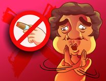 他告诉禁烟的那 皇族释放例证