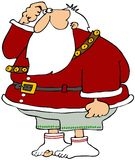 他失去的裤子圣诞老人 免版税库存图片