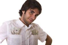 他的人货币陈列 库存照片