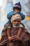 他的印第安香客儿子 免版税库存照片