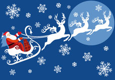 他的圣诞老人雪橇 免版税库存图片