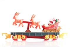 他的圣诞老人雪橇 库存照片