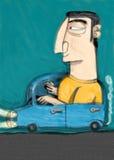 他的导致的汽车汽车夫 免版税库存图片