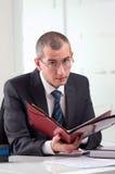 他的律师工作场所 免版税库存照片