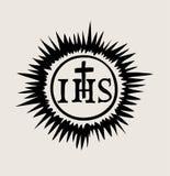 他的阁下耶稣,艺术传染媒介设计的标志 免版税库存图片