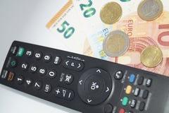 付费电视 免版税库存图片