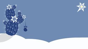 仙人掌圣诞节 免版税图库摄影