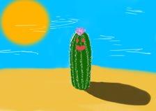 仙人掌在沙漠 向量例证