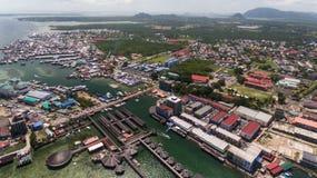 仙本那海洋旅游业中心 图库摄影