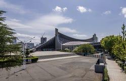 代代木全国健身房的美丽的景色在东京,日本 免版税库存图片