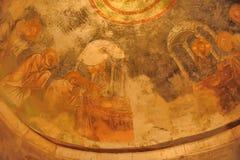 代姆雷,土耳其-在圣尼古拉(圣诞老人的13,07,2014幅壁画 库存图片