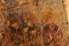 代姆雷,土耳其-在圣尼古拉(圣诞老人的13,07,2014幅壁画 免版税图库摄影