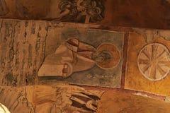 代姆雷,土耳其-在圣尼古拉(圣诞老人的13,07,2014幅壁画 库存照片