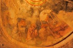 代姆雷,土耳其-在圣尼古拉(圣诞老人的13,07,2014幅壁画 免版税库存图片