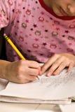 代数家庭作业 免版税图库摄影