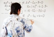 代数教学 免版税库存照片