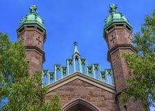 代特霍尔老校园耶鲁大学纽黑文康涅狄格 库存照片