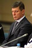 代理dmitry kozak部长最初俄国 免版税图库摄影