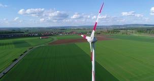 代用能源,在领域的造风机,从空气的风轮机 股票视频