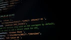 代码在显示器,关闭迅速滑  影视素材