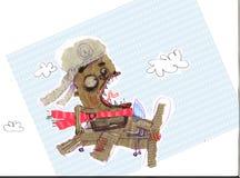 代表一名奇怪的飞行员的例证 库存图片