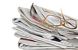 代表国际新闻的报纸 免版税库存照片