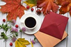 代表秋天心情的一张明亮的照片 免版税图库摄影
