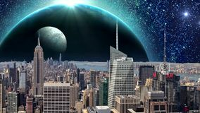 令人惊讶的幻想城市动画,幻想纽约动画 纽约默示录  皇族释放例证