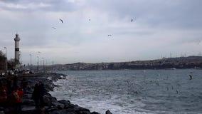 令人惊讶的海在伊斯坦布尔 股票录像