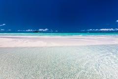 令人惊讶的Whitehaven海滩在Whitsunday海岛,昆士兰, 免版税库存图片
