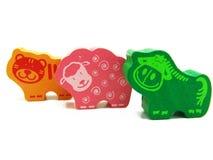 令人愉快的三个玩具 免版税图库摄影