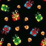 令人敬畏的圣诞节样式背景 免版税库存图片