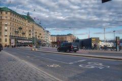 令人敬畏的瑞典街 免版税库存照片