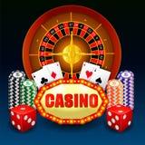 令人敬畏的赌博娱乐场背景 皇族释放例证