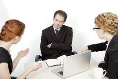 令人沮丧的业务会议 免版税库存图片
