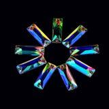 以一个长方形的形式宝石水晶反对bl 库存照片