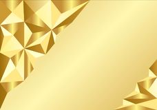 以三角金子的形式背景抽象 库存例证
