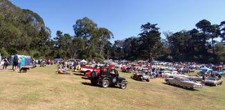 以公园排序为特色的所有carfest汽车 免版税库存照片