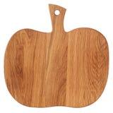 以南瓜的形式木切板,隔绝在whi 图库摄影